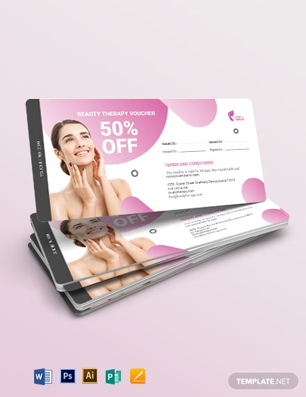 Beauty Therapy Voucher Template