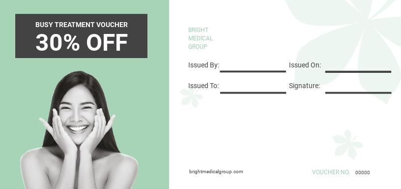 Beauty Treatment Voucher Template