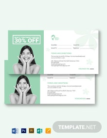 Beauty Treatment Voucher Template