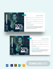 Blank Beauty Voucher Template