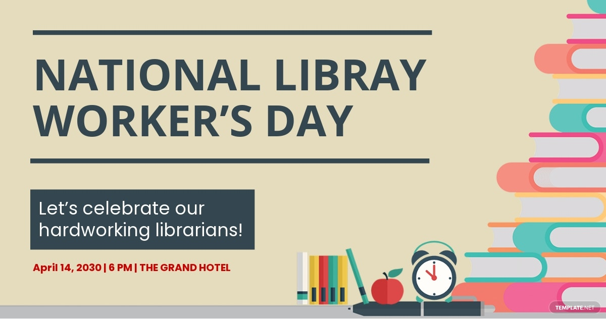 Free National Library Workers Day Facebook Post Template.jpe