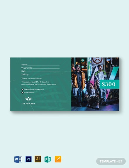 Blank Money Voucher Template