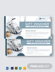 Book Promotion Voucher Template