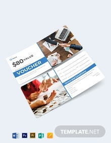 Business Commission Voucher Template