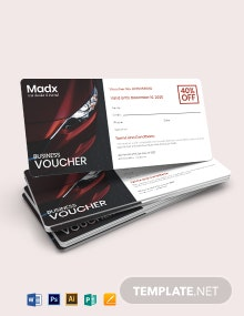 Business Gift Card Voucher Template