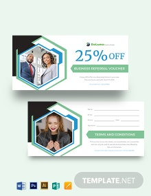 Business Referral Voucher Template