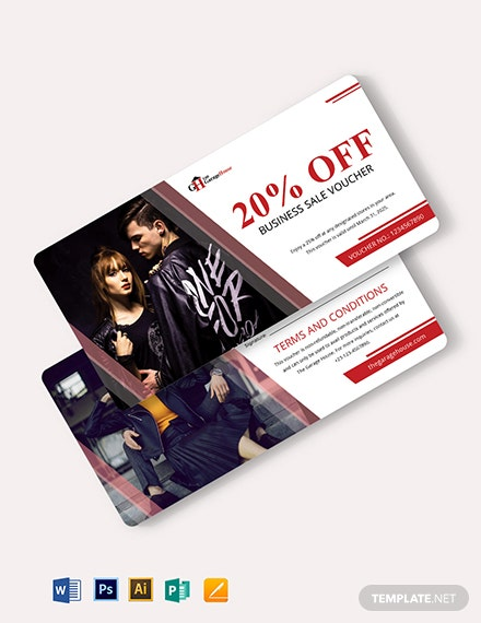 Business Sale Voucher Template