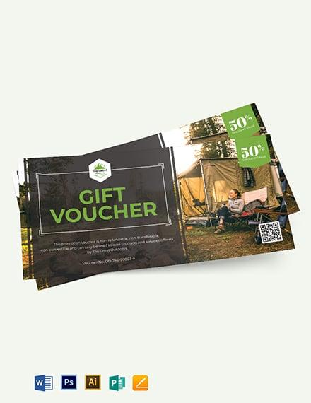 Camping Voucher Template