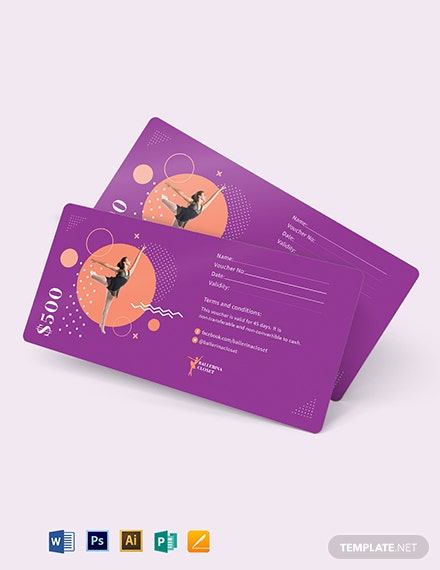 Editable Money Voucher Template