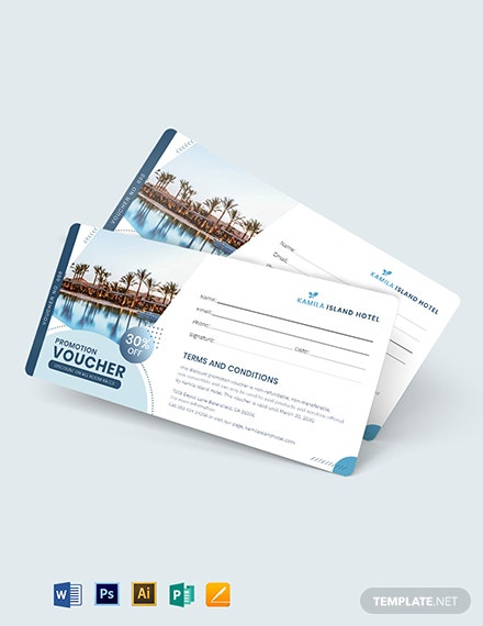 Editable Promotion Voucher Template