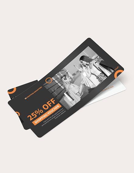 Editable Shopping Voucher Download