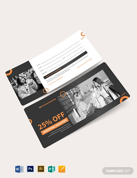editable shopping voucher template