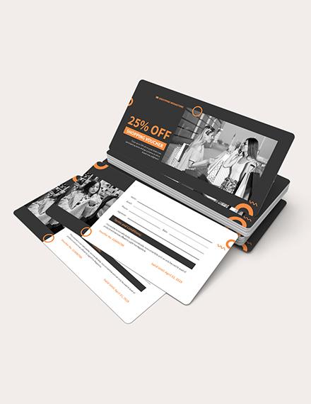 Sample Editable Shopping Voucher