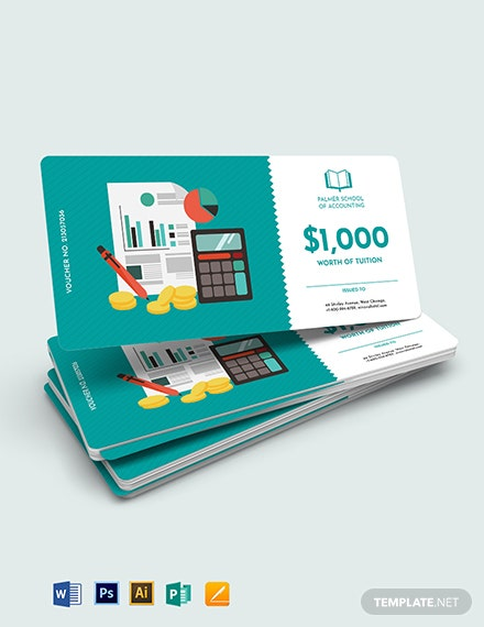 Education Accounting Voucher Template