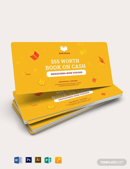 Education Voucher Book Template