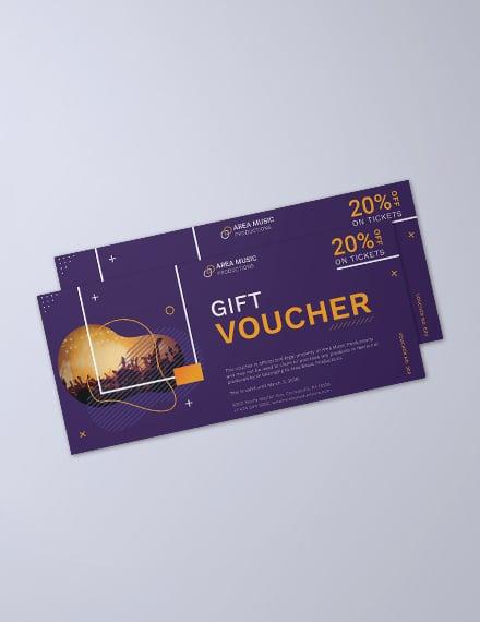 Event Promotion Voucher Template