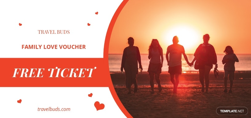 Family Romantic Love Voucher Template