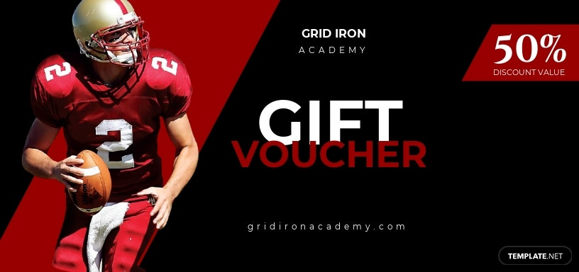 Football Voucher Template