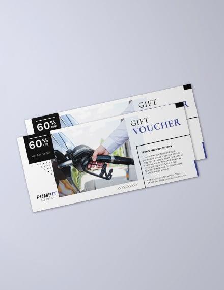 Gas Promotion Voucher Template