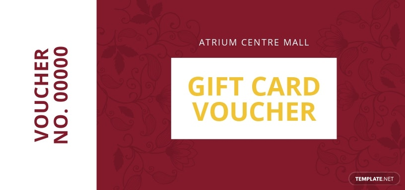 Gift Card Promotion Voucher Template
