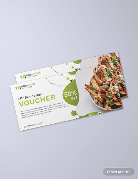 Gift Promotion Voucher Template