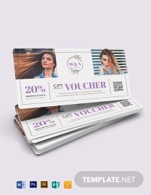 Printable Salon Voucher Template