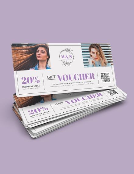 Printable Salon Voucher Template