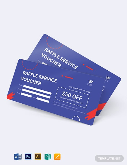 Raffle Service Voucher Template