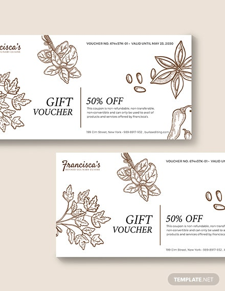 Sample Business Gift Voucher