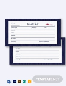 Salary Money Voucher Template