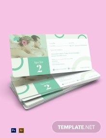 Spa For 2 Voucher Template