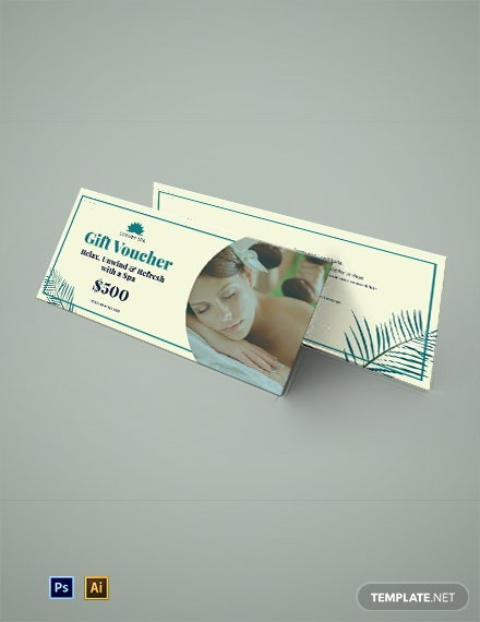 Spa Gift Voucher For Corporate Template