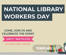 Free National Library Worker's Day Google Plus Cover Template