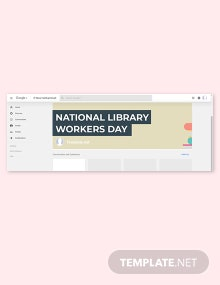 Free National Library Workers Day Google Plus Cover Template