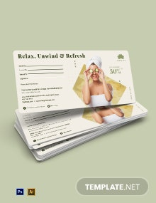 Spa Gift Voucher For Wife Template