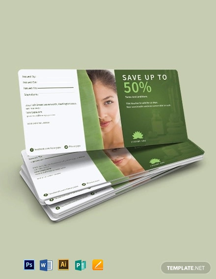 Spa Promotion Offer Voucher Template
