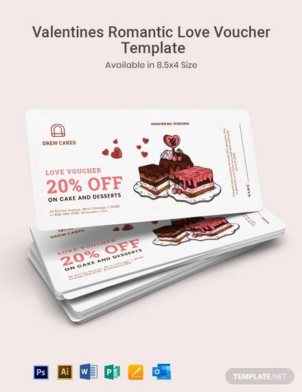 Valentine's Romantic Love Voucher Template