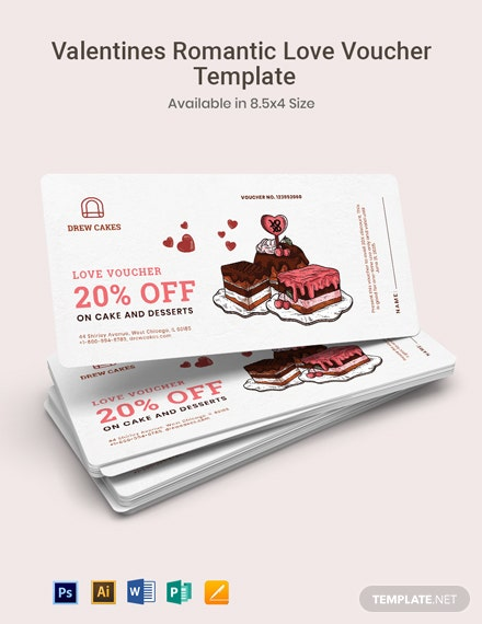 Valentine's Romantic Love Voucher Template