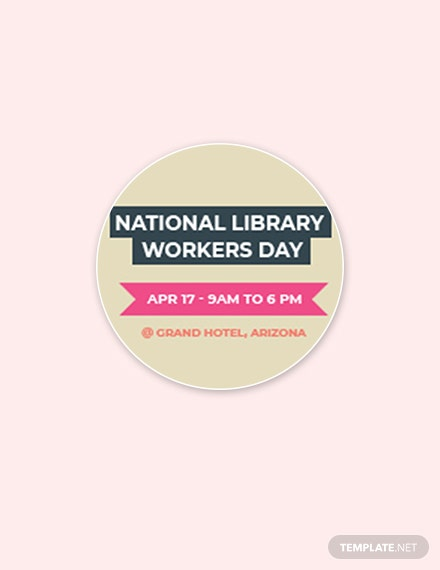 Free National Library Workers Day Google Plus Header Photo Template