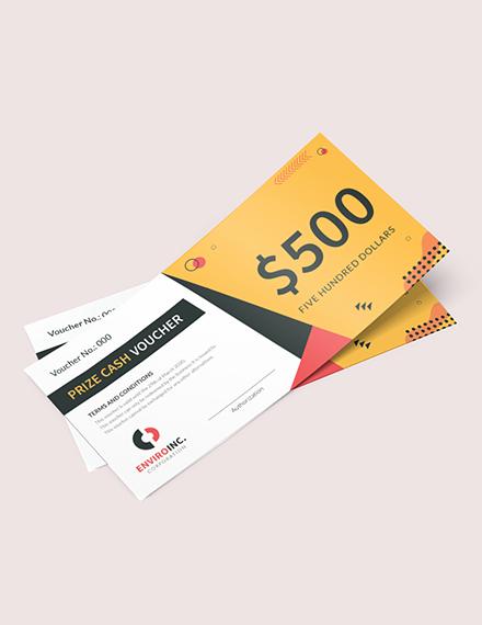Prize Cash Voucher Download