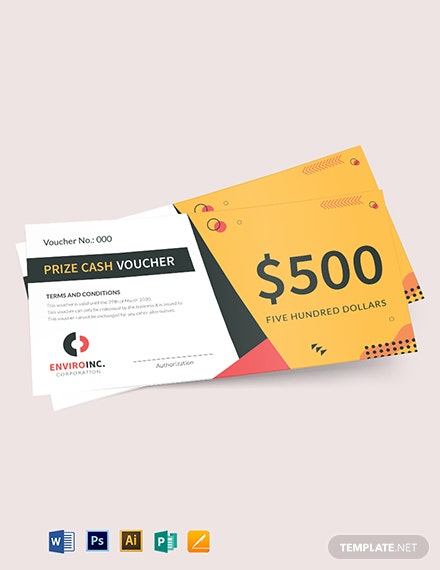 prize cash voucher template 1