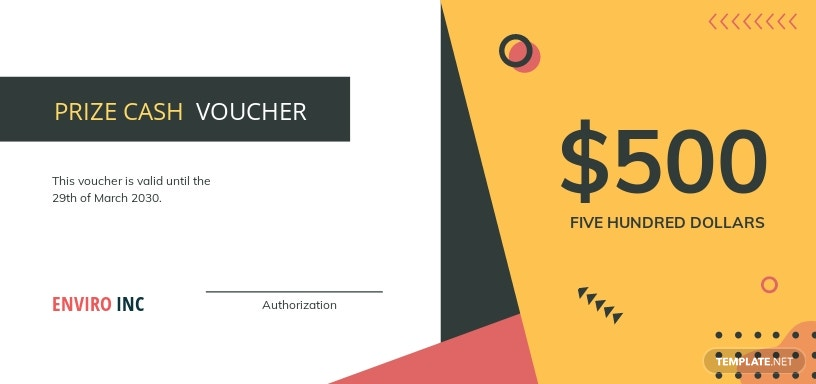 Prize Cash Voucher Template