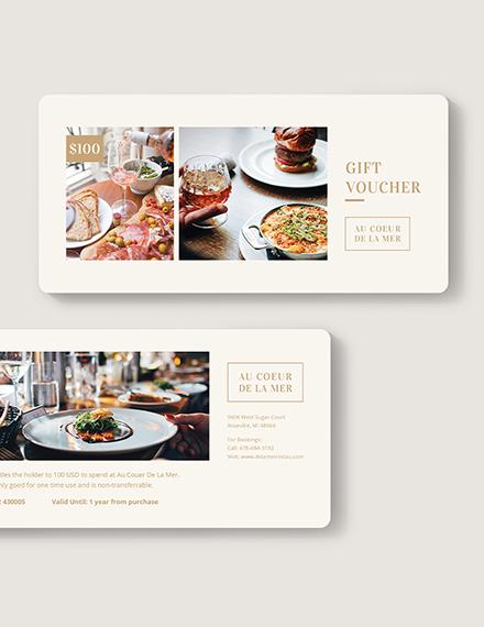 Restaurant Gift Voucher Download