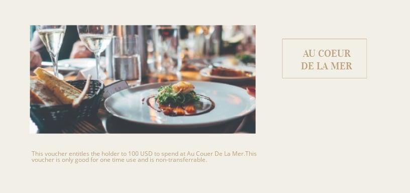Restaurant Gift Voucher Template [Free JPG] - Illustrator, Word, Apple Pages, PSD, Publisher