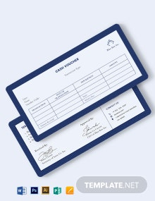 Sample Cash Voucher Template