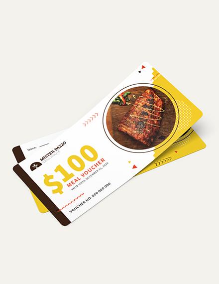 Sample Food Voucher Download