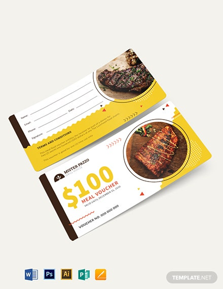 Sample Food Voucher Template
