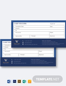 School Cash Voucher Template