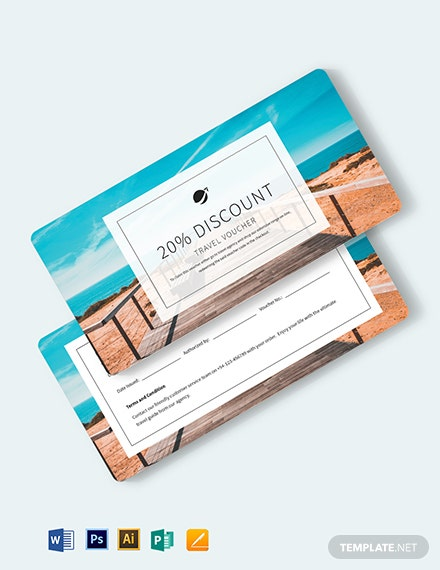 Simple Travel Voucher Template