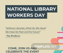 Free National Library Worker's Day Tumblr Post Template